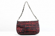 Love Moschino Women's Red/Black Logo Shoulder Satchel Handbag