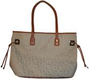 Calvin Klein Purse Handbag Shopper Tote Off White/Champagne