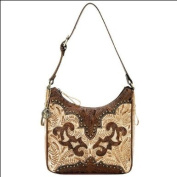 American West Annie's Secret Collection Collection Zip-Top Structured Hobo An Adjustable Strap