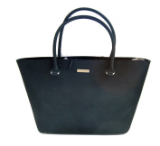 Calvin Klein Saffiano Leather Black Handbag Tote