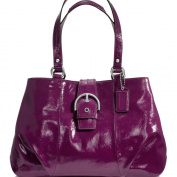 New Authentic COACH Soho Plum Patent Leather Carryall Shoulder Bag 19711 w/COACH Receipt
