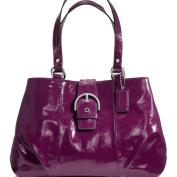 New Authentic COACH Soho Plum Patent Leather Carryall Shoulder Bag 19711 w/COACH Receipt