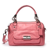 Brand New With Tags Coach Kristin Leather Double Zipper Satchel Pink Rose F22304