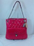 Coach Poppy Quilted Leather Slim Tote Handbag 19854 Fuchsia Pink