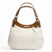 Coach Soho Leather Hobo Large White/Nutmeg F19250