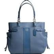 Coach 16476 Colette Blue Leather Tote Shoulder Handbag