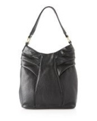 BODHI Black Pleated Hobo Shoulder Bag