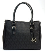 Michael Kors Signature MK PVC Black Work Tote