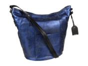 Cole Haan Crosby Metallic Bucket Bag - Blazer Blue Metallic