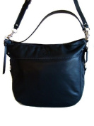 Coach Leather Convertible Zoe Hobo Handbag, Large, Black, 14706