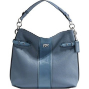 Coach Collette Leather Stripe Hobo 16457 Blue
