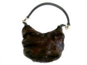 Lunaraine Long Hair Full Skin Mink Small Hobo Bag