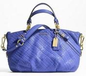 Coach Madison Woven Leather Sophia Handbag Tote Satchel Purse 58066.9cm digo