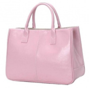 Ginkgo Fashion Women Korea Simple Style PU leather Clutch Handbag Bag Totes Purse Pinks