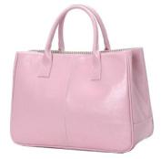 Ginkgo Fashion Women Korea Simple Style PU leather Clutch Handbag Bag Totes Purse Pinks