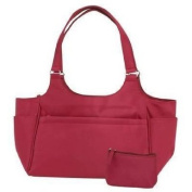 Emb Large Burgundy Carry All Purse