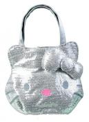 Sanrio Hello Kitty Silver sequin handbag purse tote
