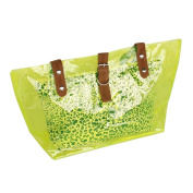 [Lucky Green] Leopard Double Handle Leatherette Satchel Bag Handbag Purse Casual Styling