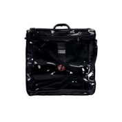 Tallit Tote Bag Rain Proof Black with Carry Handle Clear Front in Size X Large 44.5cm W X 45.7cm H