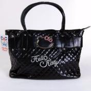 Hello Kitty Handbag Tote Shopping Hand Bag Black