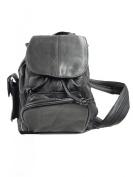 Genuine Leather Black Satchel Handbag