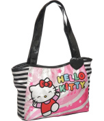 Pink and Black Hello Kitty ''Music Notes'' Small Tote