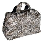 [Sexy Wild] Leopard Double Handle Satchel Handbag Toe Bag w/Shoulder Strap