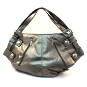 Metallic Silver Hobo Bag