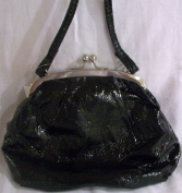 Shiny Black Stylish Small Fashion Party Hand Bag Purse