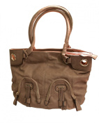 Mauve Everyday Faux Leather Tote Bad Padded Handles