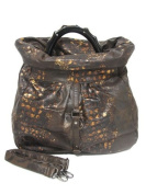 Exotic Croco Slouch Handbag - Brown