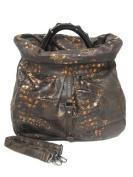 Exotic Croco Slouch Handbag - Brown