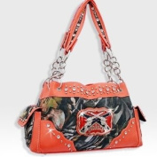 Orange Camo Western Pistol Gun Redneck Fashion Purse