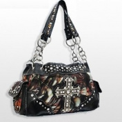 Black Camo Western Cross Fashion Purse