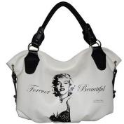 Marilyn Monroe White Hobo Bag (Model#:a177mr812) 45.7cm w X 30.5cm h X 5.1cm d