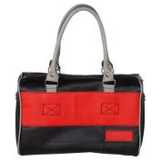 [Kiss In The Dark] Onitiva Leatherette Double Handle Satchel Bag Handbag Purse