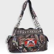 Brown Camo Western Pistol Gun Redneck Fashion Purse