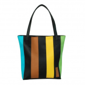 [Magical Wonderland] Onitiva Leatherette Double Handle Satchel Bag Handbag Purse