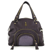 Christian Audigier Natural Charms Rose Grande Satchel -Purple