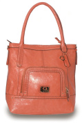 GUESS Belou Carryall Handbag CORAL