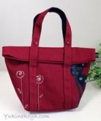 Japan Neko Mania Canvas 2 Ways Bag Red New B31