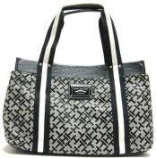 Tommy Hilfiger Medium Black Alpaca Iconic Tote Handbag Purse