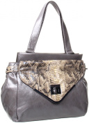 BCBGeneration Charlie Satchel,Charcoal,One Size