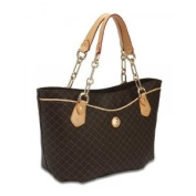 Signature Brown Trendy Traveler's Tote by Rioni Designer Handbags & Luggage