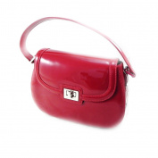 """Leather bag """"Jacques Esterel"""" red varnish."""