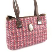 """Vintage bag """"Jacques Esterel"""" braided pink."""