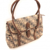 "Bag ""Jacques Esterel"" beige brown."