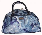 Jessica Simpson Purse Handbag Carry-on Luggage Spoonful of Sugar Paisley Blue