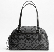 Coach Peyton Satchel Black Grey 18918