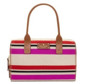 Kate Spade Oak Island Kaleigh Stripe Satchel Bag Purse Tote